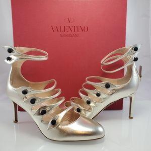 NWT Valentino Garavani Leather Platino Ankle Sz 38